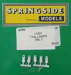 Springside DA20 LNER - OO Scale  Tail Lamps Lner (5)